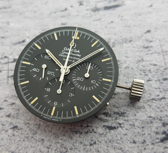 1970 Omega Speedmaster Mark II Chronograph Tropical Dial Wristwatch Ref. 145.014