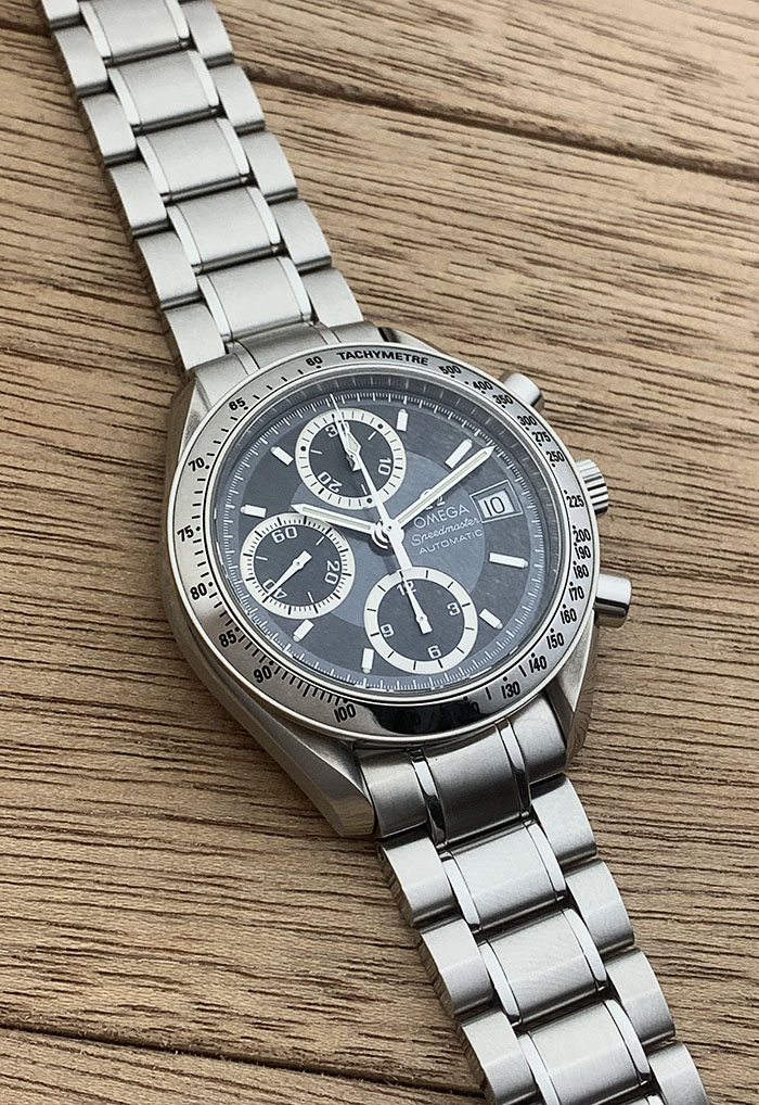 Omega Speedmaster Automatic Date Blue-Grey Ref. 3513.46