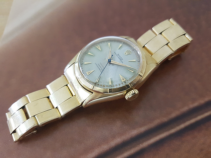 1951 Rolex Bubble Back 18K Gold Ref. 6085