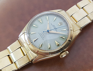 1951 Rolex Bubble Back 18K Gold Wristwatch Ref. 6085