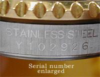 Between rolex lugs no serial number Rolex Serial
